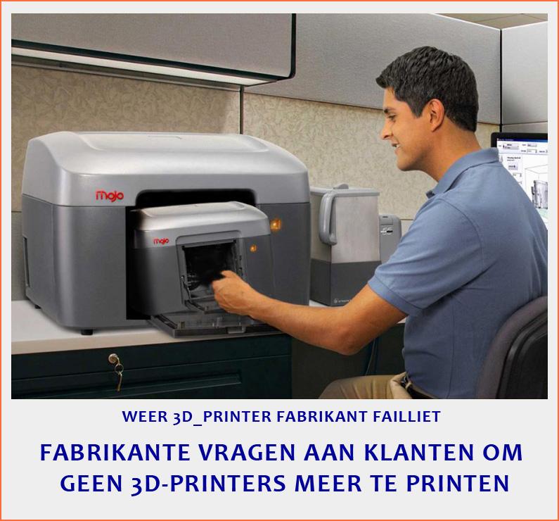 geen 3d-printers meer printen