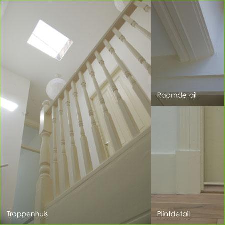 details trappenhuis, plintdetail en raamdetail