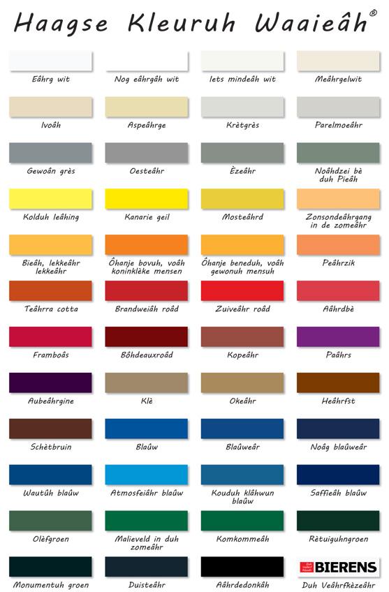 Kleuren in het Haags
