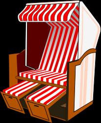 Tekening met Inkscape - strandstoel