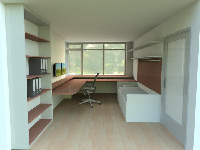 Ontwerp logeertafel tafel en bed ineen