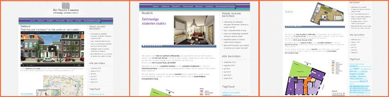 Website hetnieuwecameren.nl voor makelaar in Leiden