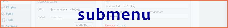 Knop op menubalk voor submenu zonder link naar pagina